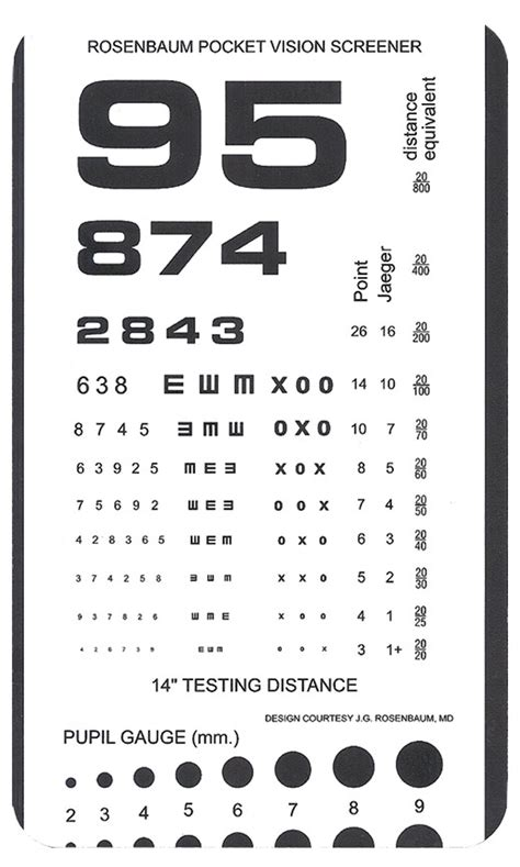 free printable rosenbaum eye chart rosenbaum pocket vision screener book covers