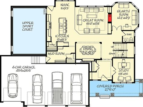four car garage house plans exclusive house plan with 4 car garage and sport court