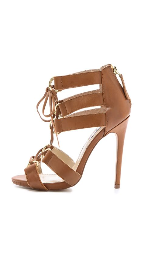 brown lace up sandals the salad x steve madden monaco lace up sandals in