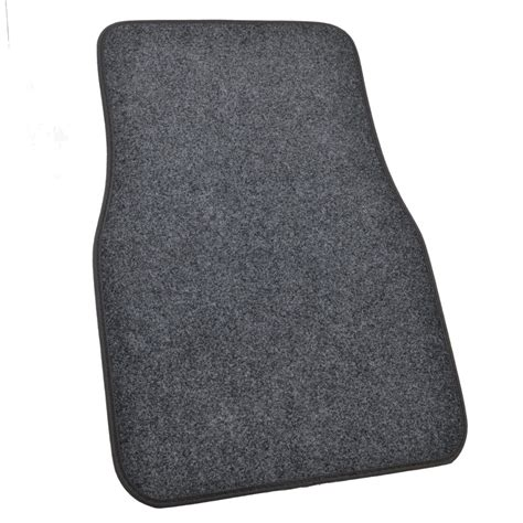 deluxe 4 piece high quality thick plush auto carpeted floor mats dark gray ebay