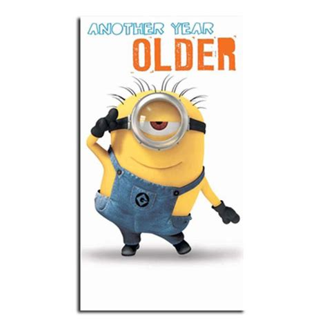 printable birthday cards minions another year older minions birthday card minion shop