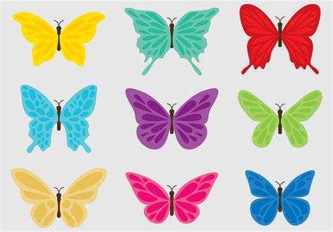 colorful butterflies colorful butterflies free vector stock