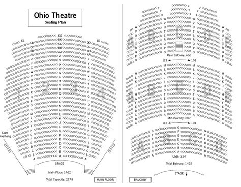 ohio theater seating chart possible or wallpaper idea the safety