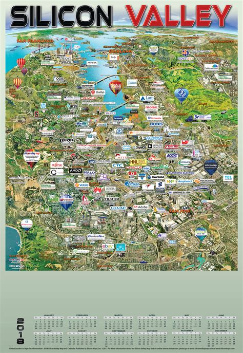 map of valley silicon valley 2018 silicon maps