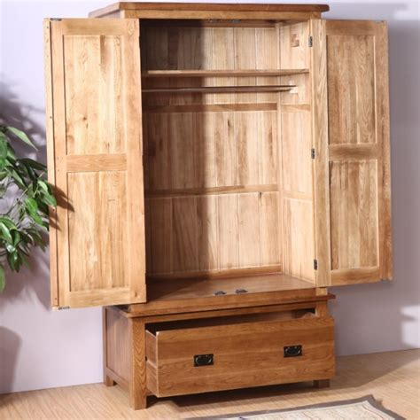 Oak Wardrobe Closet by Custom European White Oak Wood Wardrobe Closet Two Three Four Retro Wood Garden Wardrobe In