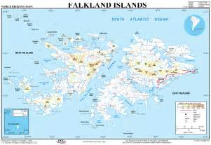 islands map map of the falklands pengoing south