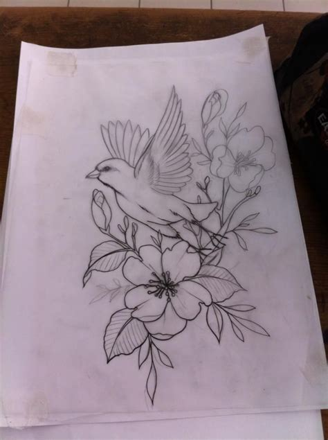 bird and roses tattoo flower and bird tattoos elaxsir