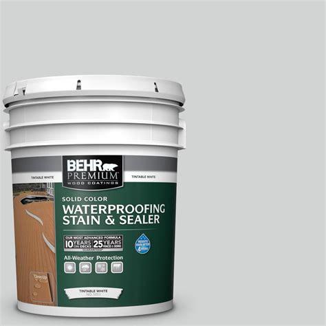 behr premium  gal   sterling solid waterproofing