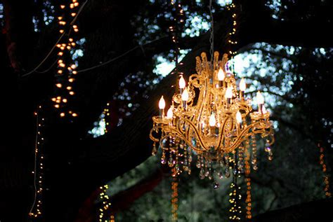 Outdoor Hanging Lights For Trees Anyone Can Decorate Outdoor Chandelier Ideas