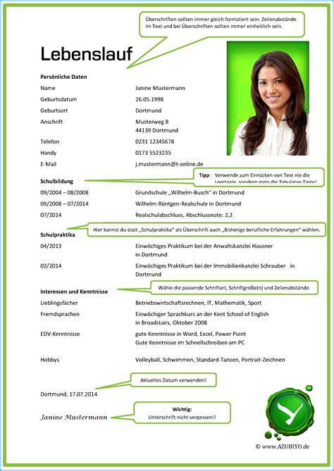 Lebenslauf Ausbildung 2016 8 Lebenslauf Ausbildung Muster Business Template