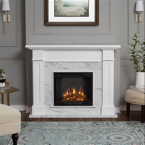 Hampton Bay Ansley 32 in. Rolling Mantel Infrared Electric