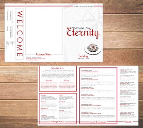 bulletin layout template free church bulletin templates 8 professionally designed