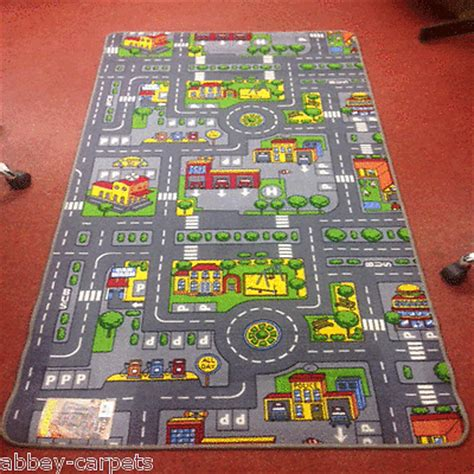 rug with roads children s road rug play mat car roadway large