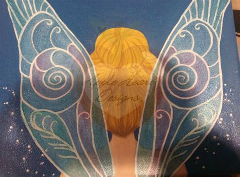 tinkerbell painting free tinkerbell canvas painting by myapples on deviantart