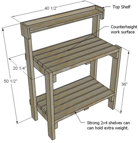 potting bench plans with sink ana white build a simple potting bench free and easy
