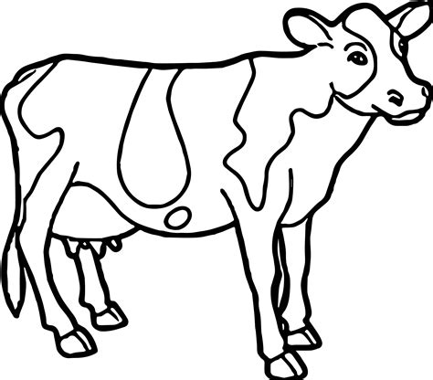 cow farm coloring page cow farm animal coloring page wecoloringpage