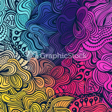 ethnic pattern background vector seamless texture with abstract flowers endless
