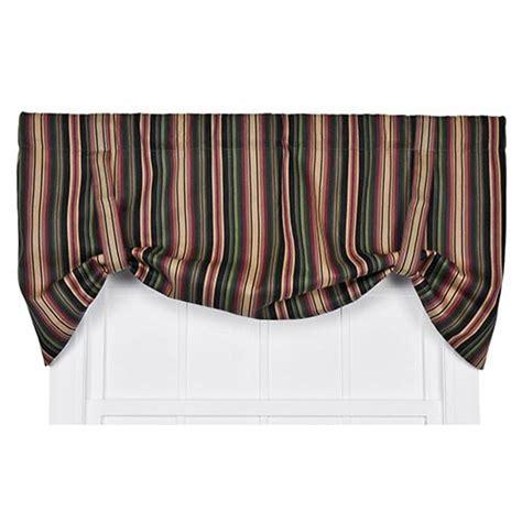 24 Inch Window Valance Montego Stripe Black 60 X 24 Inch Tie Up Window Valance
