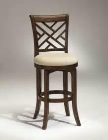 Wood Swivel Bar Stools With Back Hillsdale Garden Back Swivel Wood Bar Stool Brown