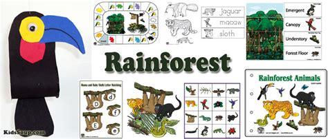 activities and crafts the rainforest preschool activities and crafts kidssoup