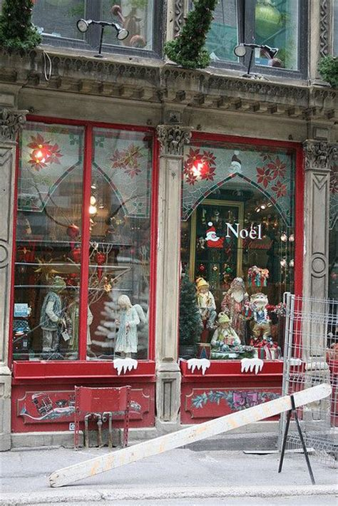christmas store in old montreal store fronts pinterest