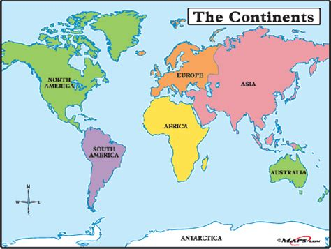 The seven continents of the world introduction