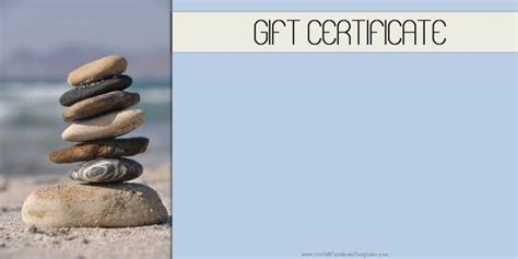 Spa Gift Certificates 101 Gift Certificate Templates Spa Gift Certificate Template