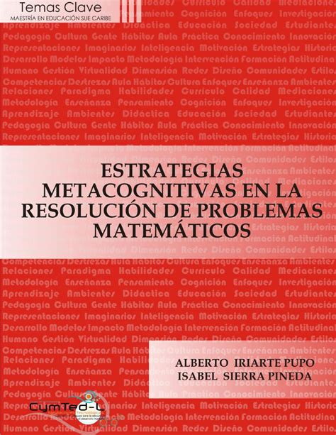 libro proyectos y estrategias de estrategias metacognitivas en la resoluci 243 n de problemas matem 225 ticos by libros cymted maestr 237 a