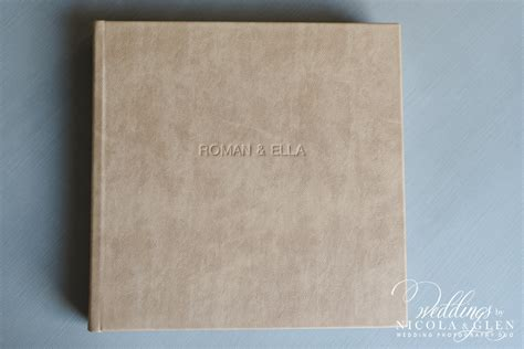 queensberry wedding album embossed clay leather cover