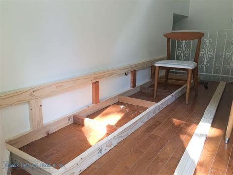 how to build a dining bench built in banquette tutorial bigger than the three of us