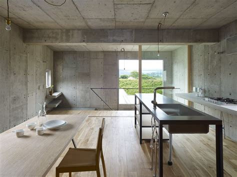 concrete interior design industrial chic concrete house with interior courtyard