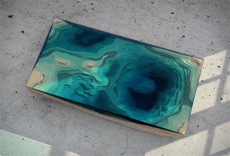 topography coffee table the abyss table by duffy