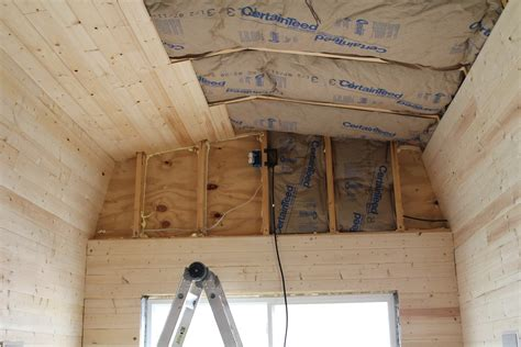 insulation and pine board tiny house fat crunchy