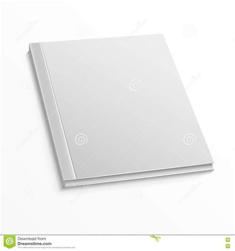 blank mockup templates blank magazine cover template on white background vector