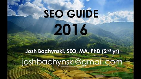 Seo Guide 2016 the complete 2016 seo guide basic to advanced