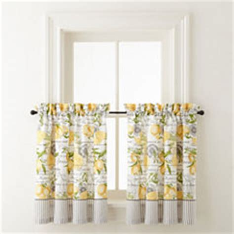 home expressions 36 inch kitchen curtains for window