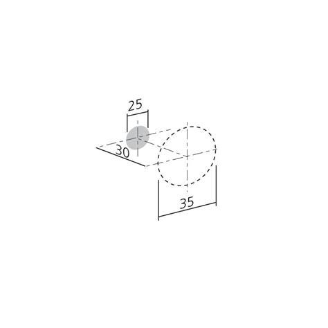 bouton de meuble piston noir