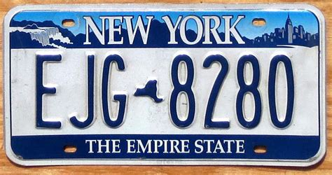 Ny Vanity Plates by New York Empire State Base Vg Automobile License Plate