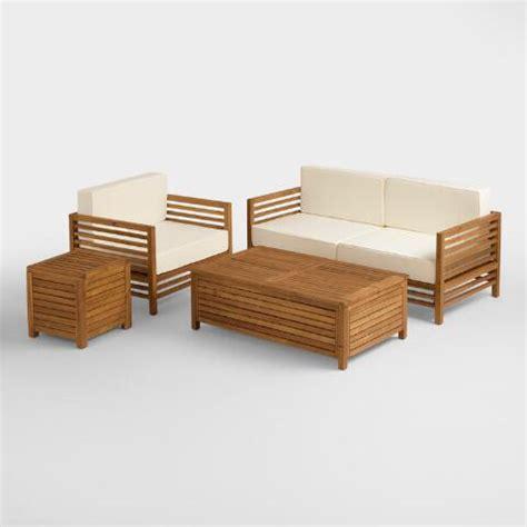 wood praiano outdoor storage coffee table world market