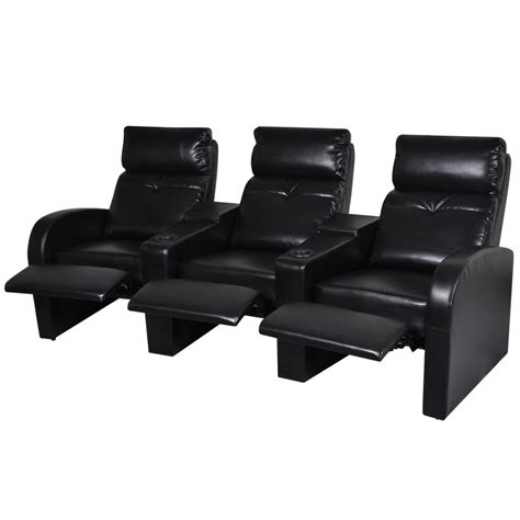 Artificial Leather Home Cinema Recliner Reclining Sofa 3 3 Seat Recliner Sofa