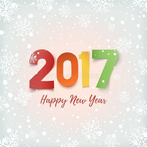 new year 2017 card template free happy new year 2017 greeting card template stock vector