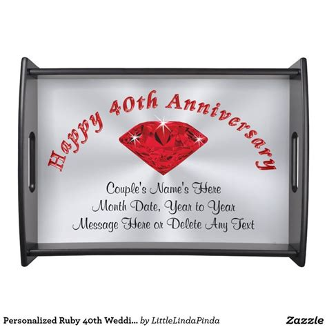 40th Wedding Anniversary Gift Ruby by 30 Best Images About 40th Anniversary Gifts Personalized