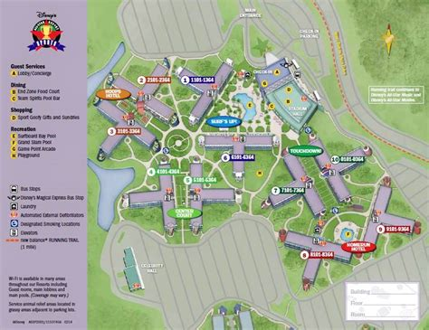 all resort map preferred rooms review disney s all sports resort yourfirstvisit net