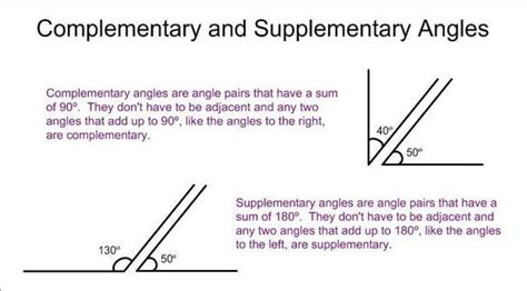supplement vs complement math complementary and supplementary angles tutorial