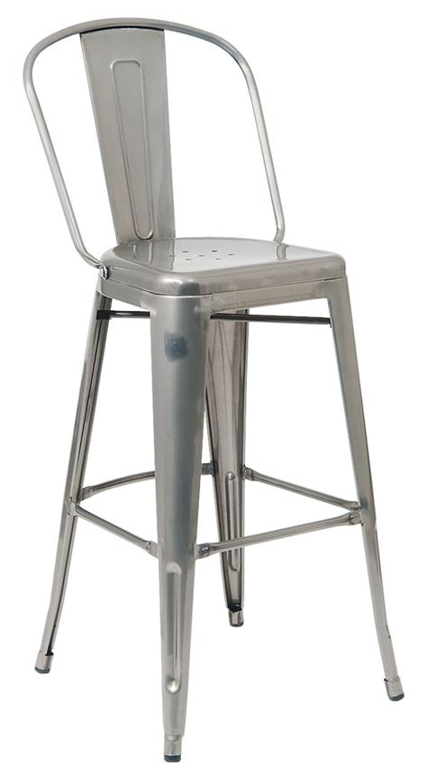 Cafe Style Bar Stools by Bistro Style Metal Bar Stool In Clear Finish