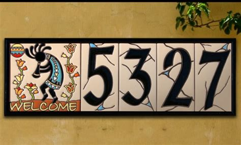 tile house numbers house numbers 3 quot x 6 quot ceramic address tile southwest sand design per tile