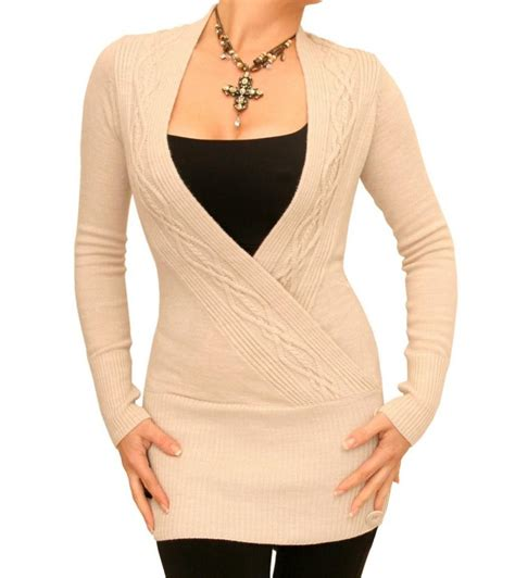 beige cable knit jumper beige cable knit wrap tunic jumper