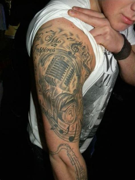 music sleeve tattoo for men sleeve tattoos pinterest