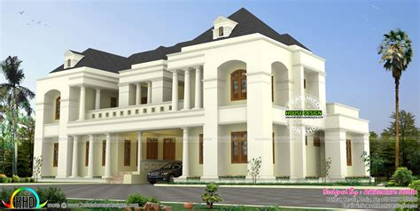 luxury colonial style indian home design kerala home