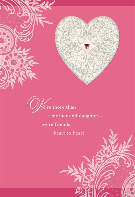 printable valentine card for daughter mother daughter love and friendship valentine s day card